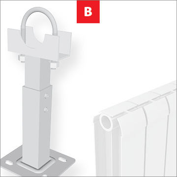 BRACKETS FOR ALUMINIUM RADIATORS